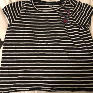 Loft plus stripped tshirt